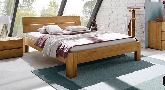Bett Bayamo in 20cm Höhe, Eiche naturfarben