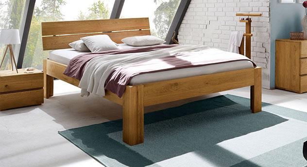 Bett Bayamo in 30cm Höhe, Eiche naturfarben