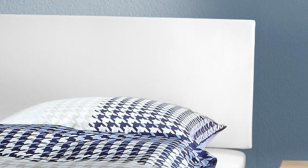 Bett Benevento mit Kopfteil aus Kunstleder