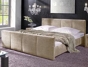Stoffbetten bettgestelle mit stoffbezug g nstig kaufen for Bett 70er jahre