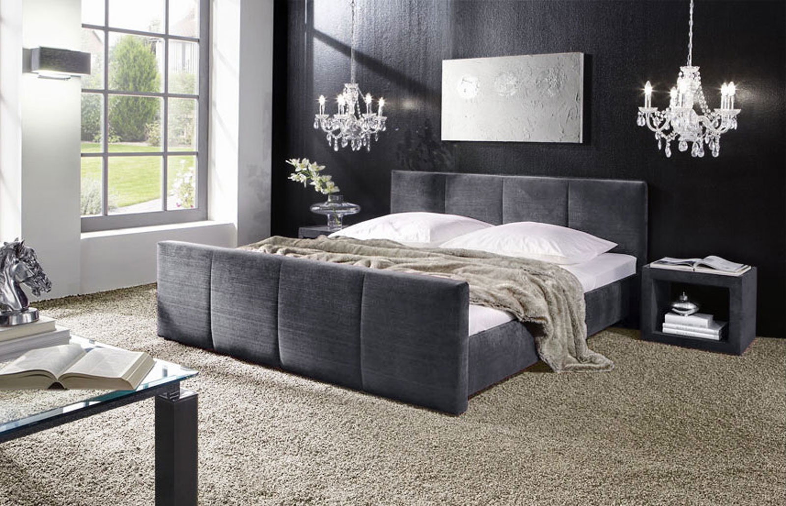 polsterbett mit bettkasten und matratze bestellbar caserta. Black Bedroom Furniture Sets. Home Design Ideas