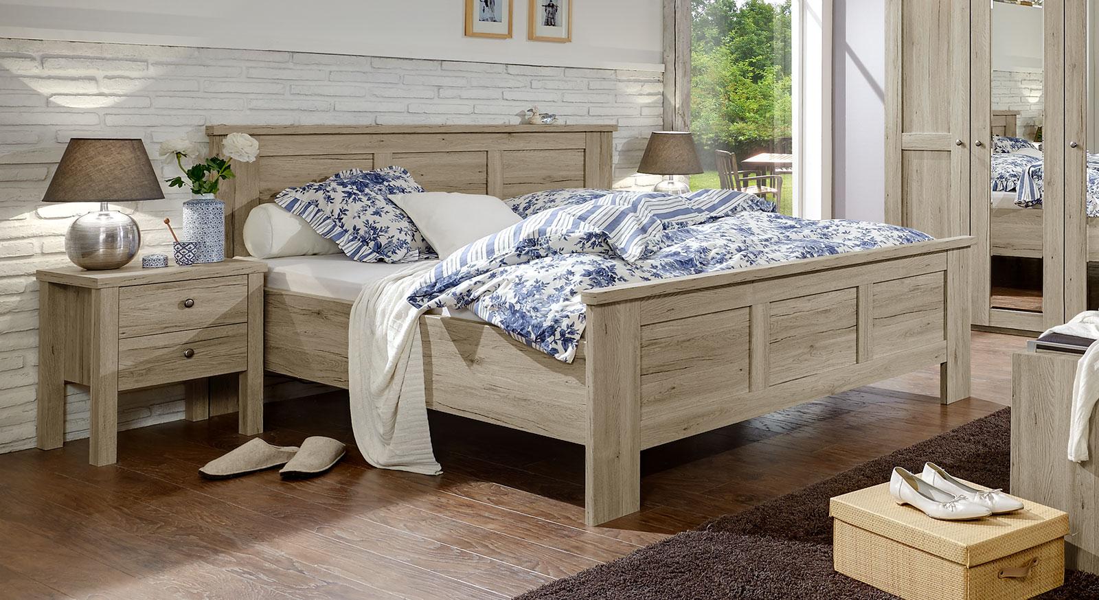Modernes Bett Catio in Eiche-Dekor