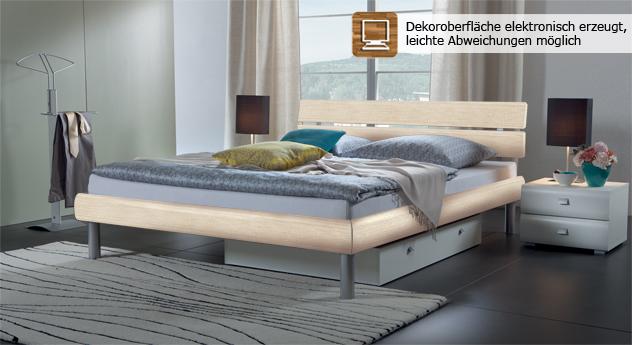 Diego Dekor-Doppelbett in Ahorn.