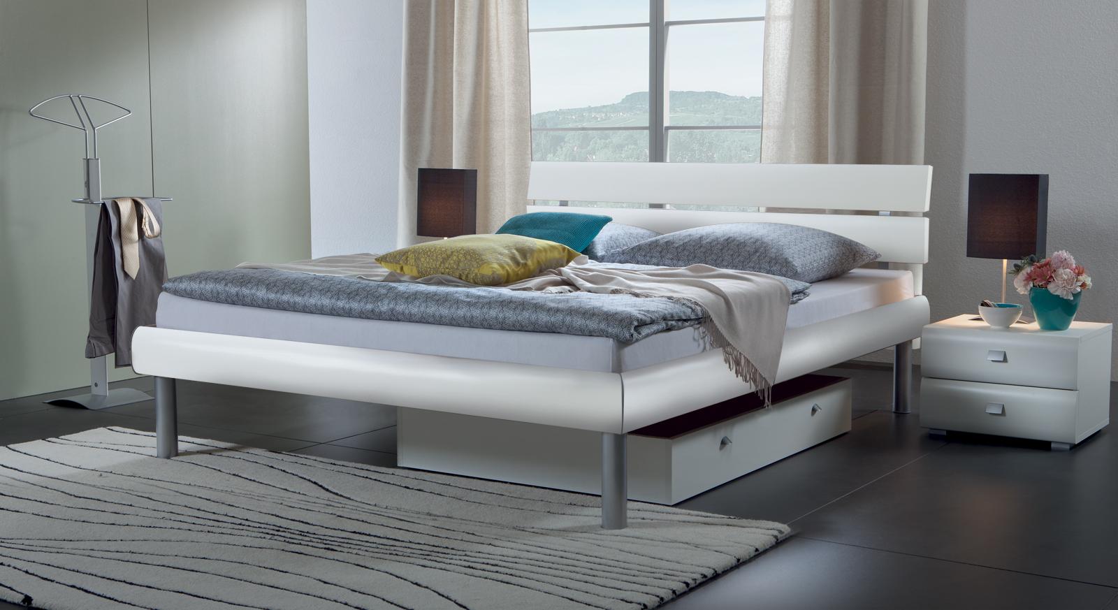 bett in eiche s geraufarbenem holzdekor diego. Black Bedroom Furniture Sets. Home Design Ideas