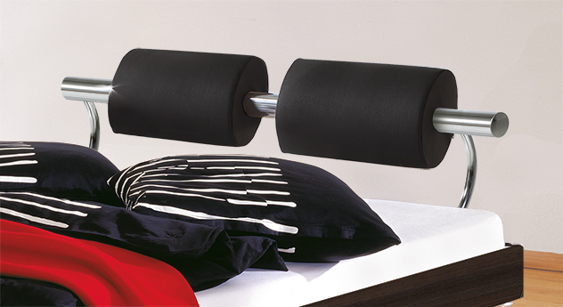 Hochwertiges Bett Elastic mit Kopfteil-Polster