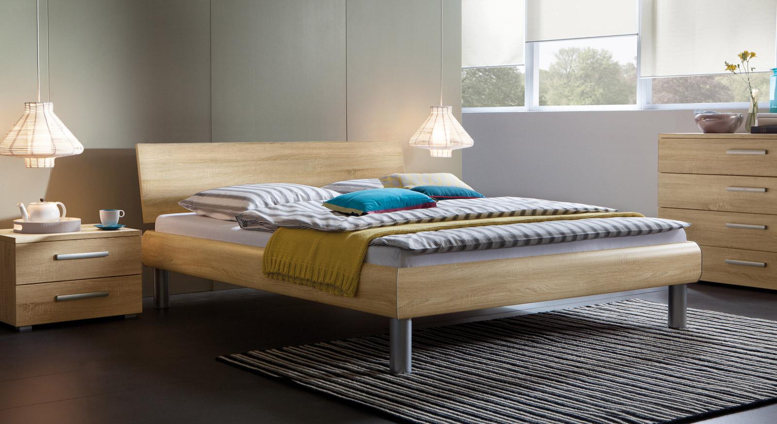 g nstiges doppelbett in z b 200x200 cm enna. Black Bedroom Furniture Sets. Home Design Ideas
