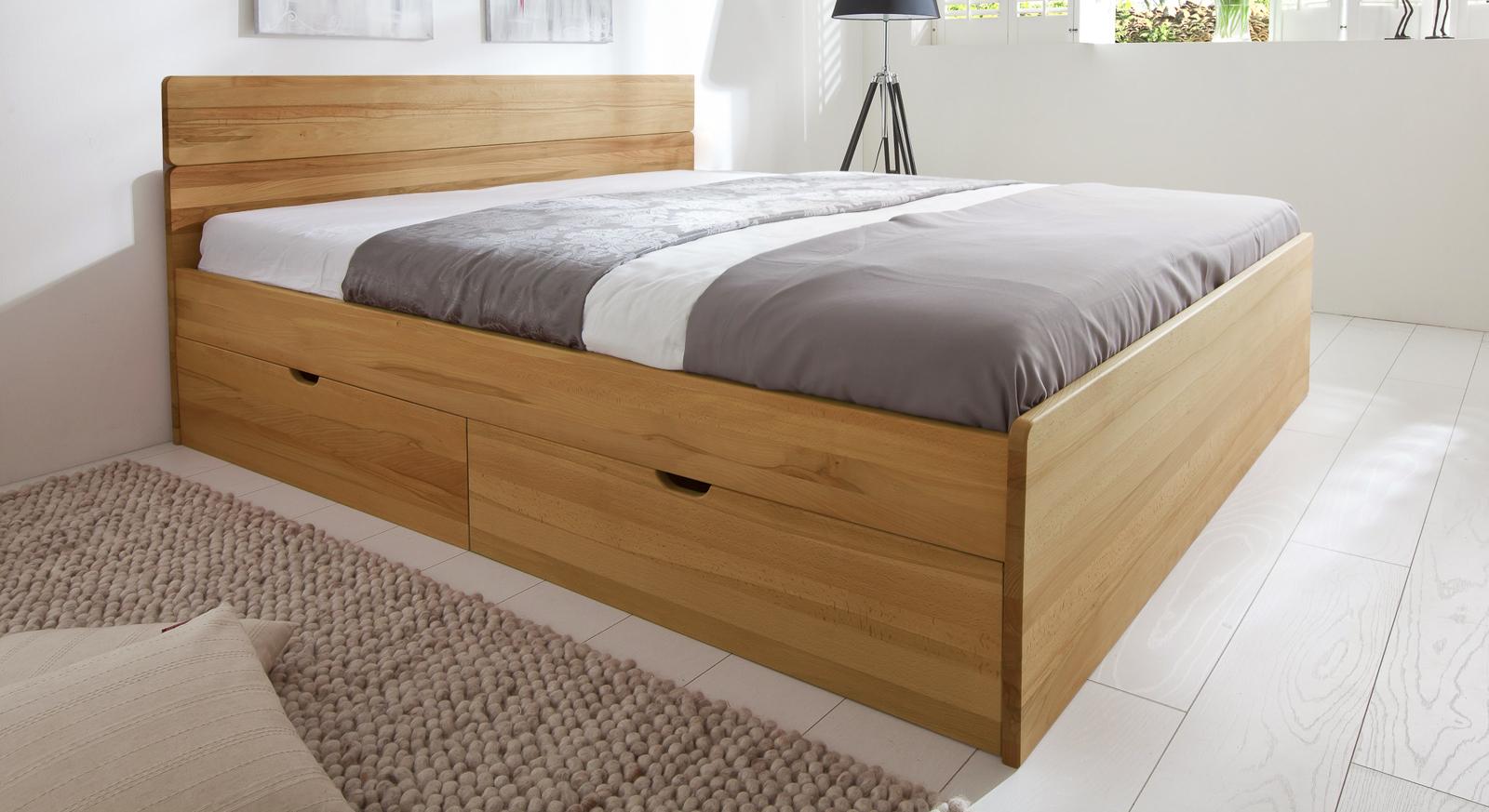 Bett mit Schubkästen in der Größe 180x200cm - Finnland