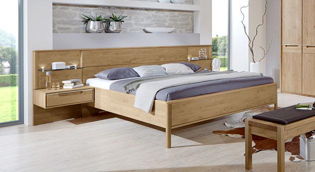 Bett Fria aus Massivholz Erle natur