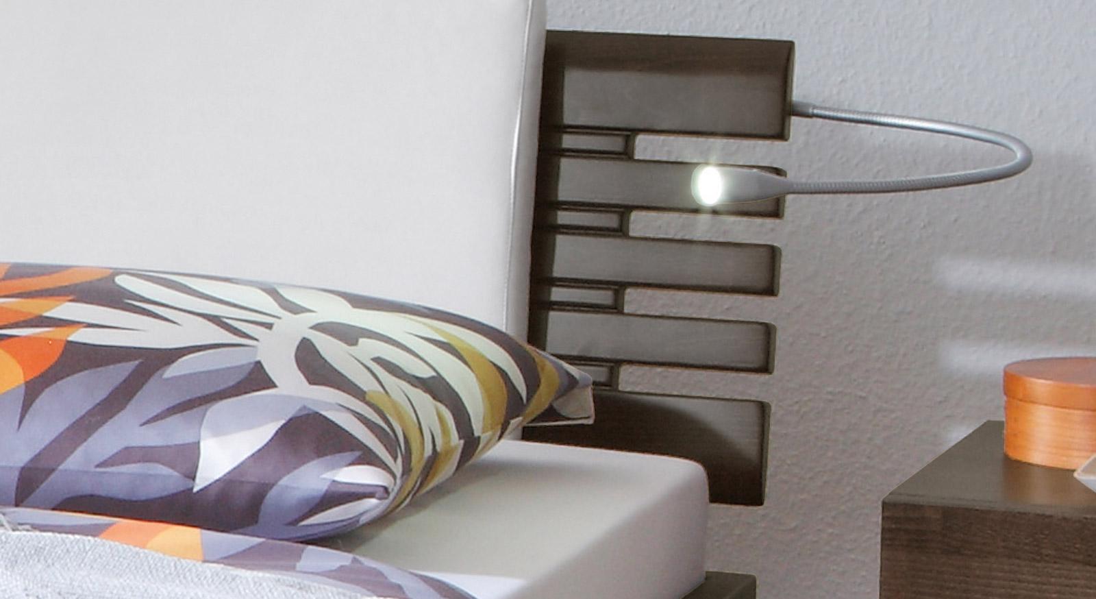 Das Bett Grosseto mit schön designtem Kopfteil