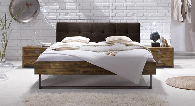 Bett Hamina ohne Metall-Beschläge