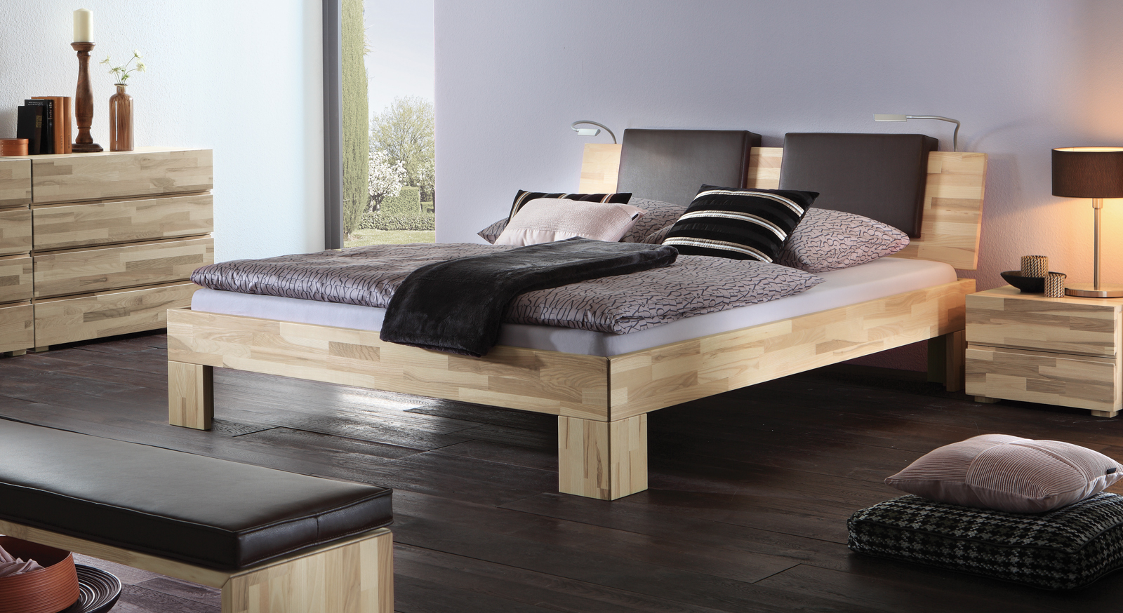 bett komplett mit lattenrost und matratzen bett el paso. Black Bedroom Furniture Sets. Home Design Ideas