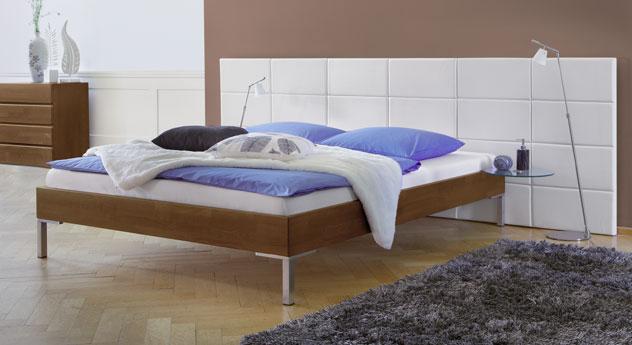 Modernes Bett Lamesa in Buche nussbaum