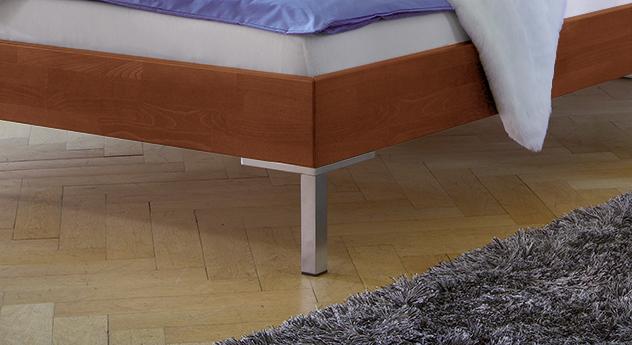 Bett Lamesa mit stabilen Edelstahl-Füßen