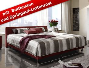 kunstleder bett liberio mit niedrigem kopfteil. Black Bedroom Furniture Sets. Home Design Ideas