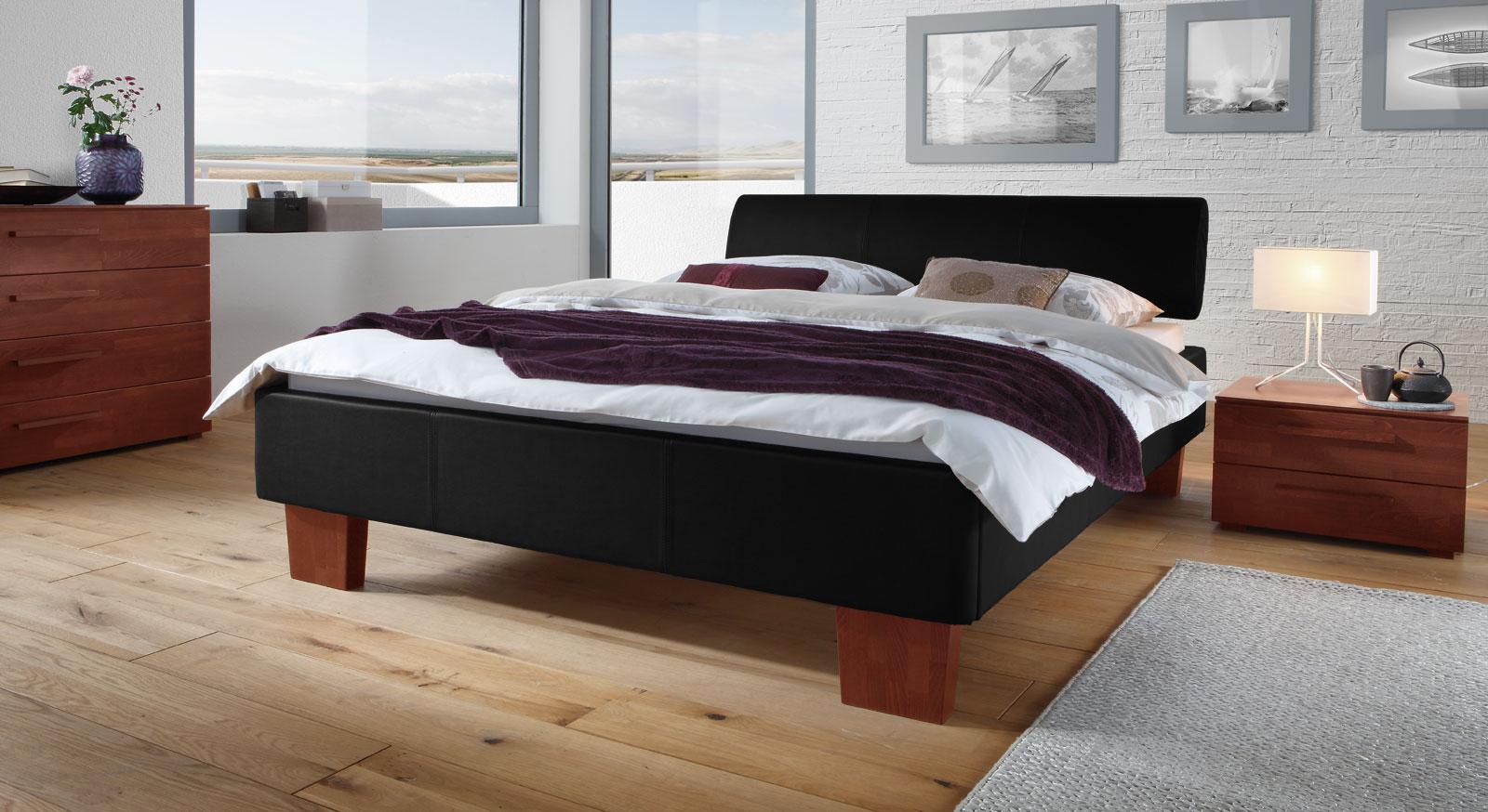 polsterbett mit kunstleder in z b wei lopo. Black Bedroom Furniture Sets. Home Design Ideas