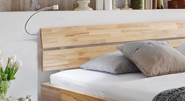Tolles Design Bett Lucca Komfort mit geteiltem Kopfteil