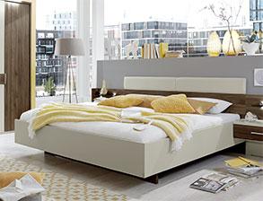 schlafzimmer preiswert mit dekor-bett und beimöbeln - lucea - Hochwertiges Bett Fur Schlafzimmer Qualitatsgarantie