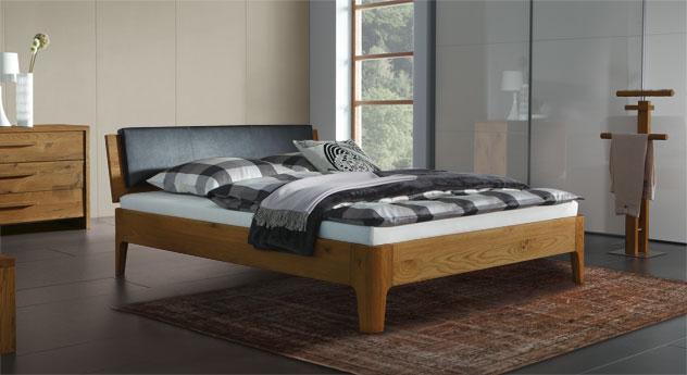 Eiche-Bett Lugo in natur mit 20cm hohen Füßen