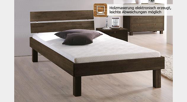 Wengefarbenes Bett Madrid Komfort