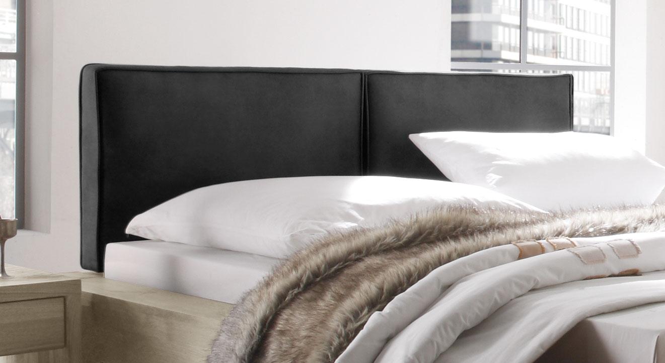 Bett Maia mit gepolstertem und weichem Kopfteil