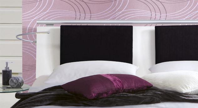 Hochwertiges Bett malaga mit mdf dekor kopfteil.