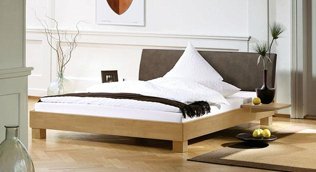 das moderne buchenbett marbella in der hellen natur ausf hrung mi. Black Bedroom Furniture Sets. Home Design Ideas
