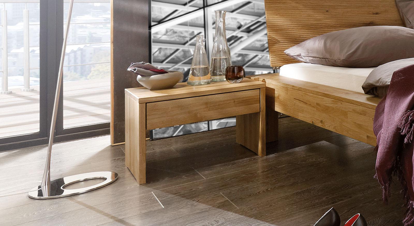 Bett Marsala mit optionalem Nachttisch