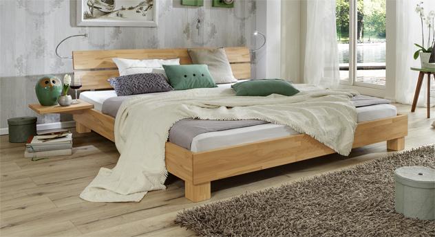 Bett Mera aus Massivholz in Buche natur