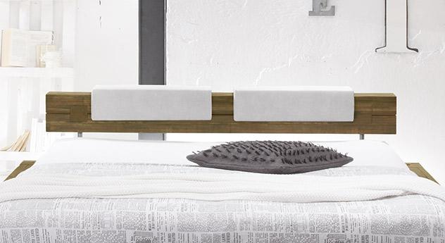 bett im industrielook aus massivholz kaufen molina. Black Bedroom Furniture Sets. Home Design Ideas