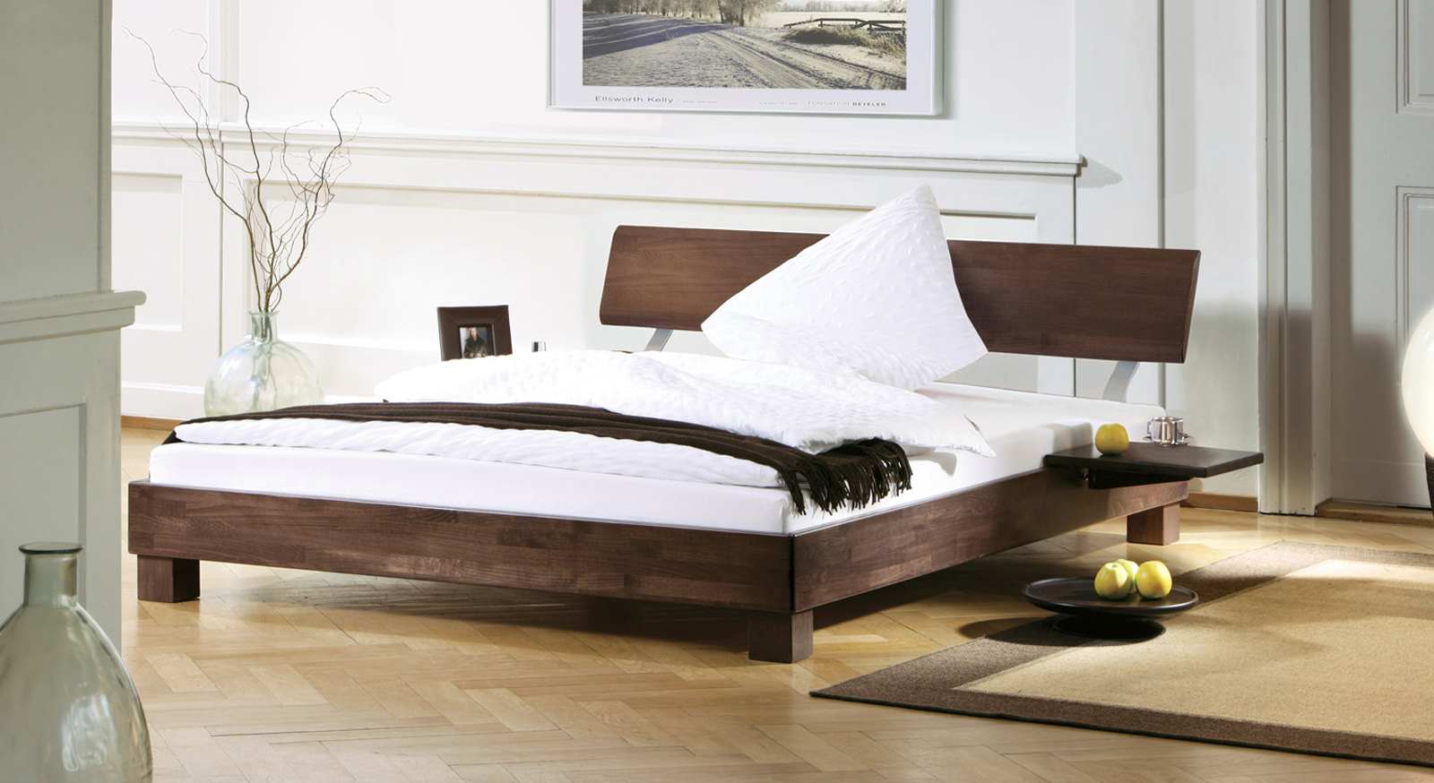 wei es bett monza aus buchenholz online. Black Bedroom Furniture Sets. Home Design Ideas