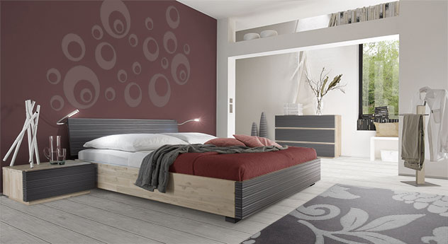 nachttisch aus akazie mit schublade ancona. Black Bedroom Furniture Sets. Home Design Ideas