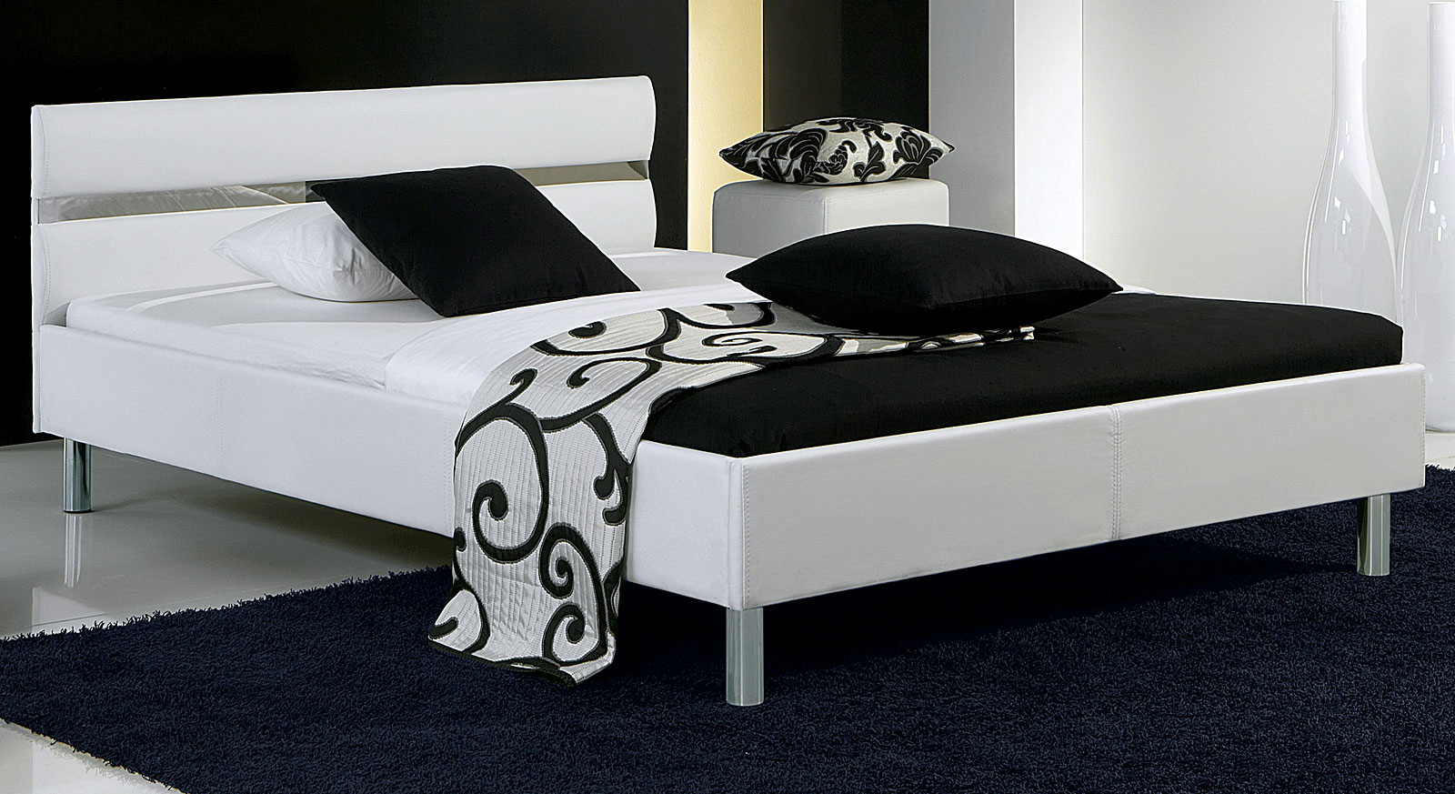 weisses bett fabulous opsetims utims medaillonu wei x cm. Black Bedroom Furniture Sets. Home Design Ideas