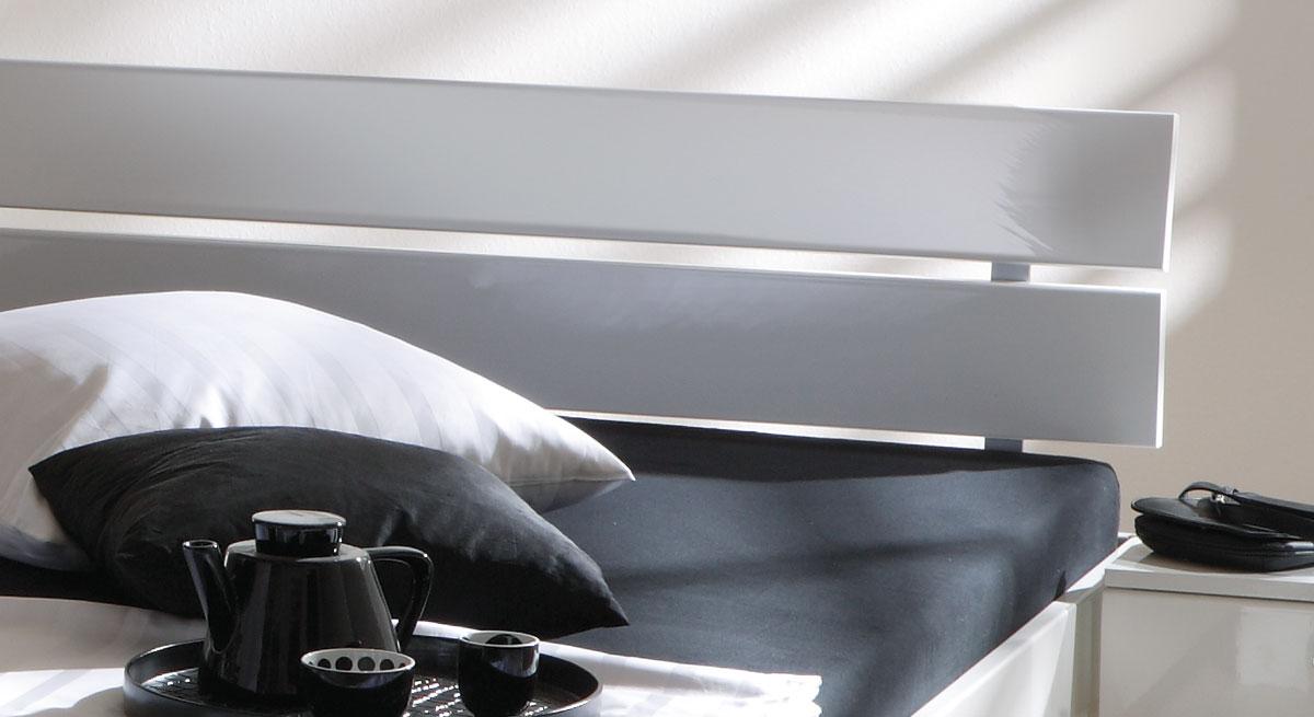 Bett Norman Kopfteil Rückenlehne geteilt zwei Querlatten
