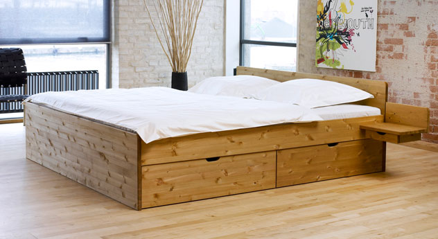 schubkasten doppelbett aus buche oder kiefer bett norwegen. Black Bedroom Furniture Sets. Home Design Ideas