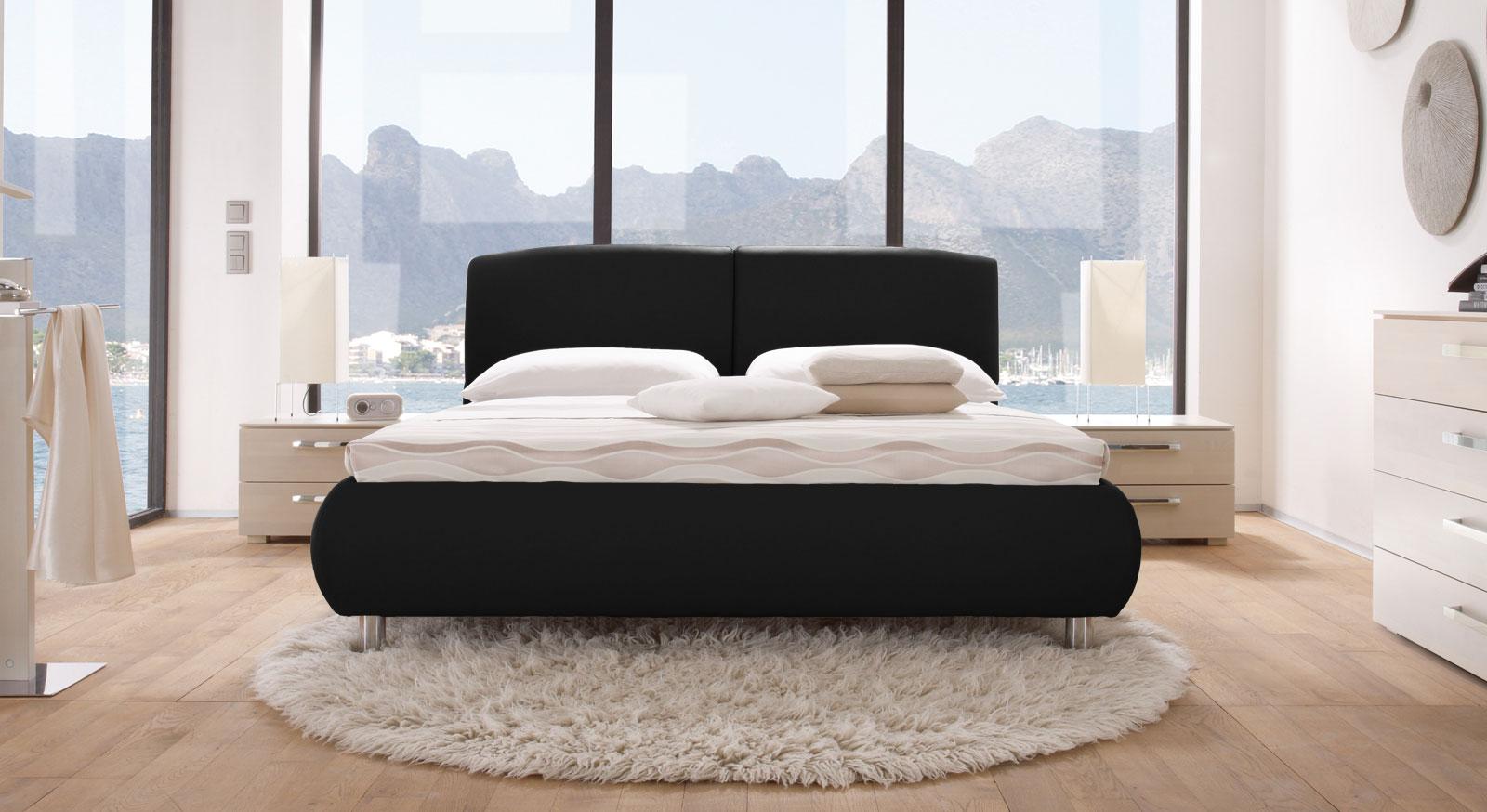 Das Bett Oristano in Schwarz
