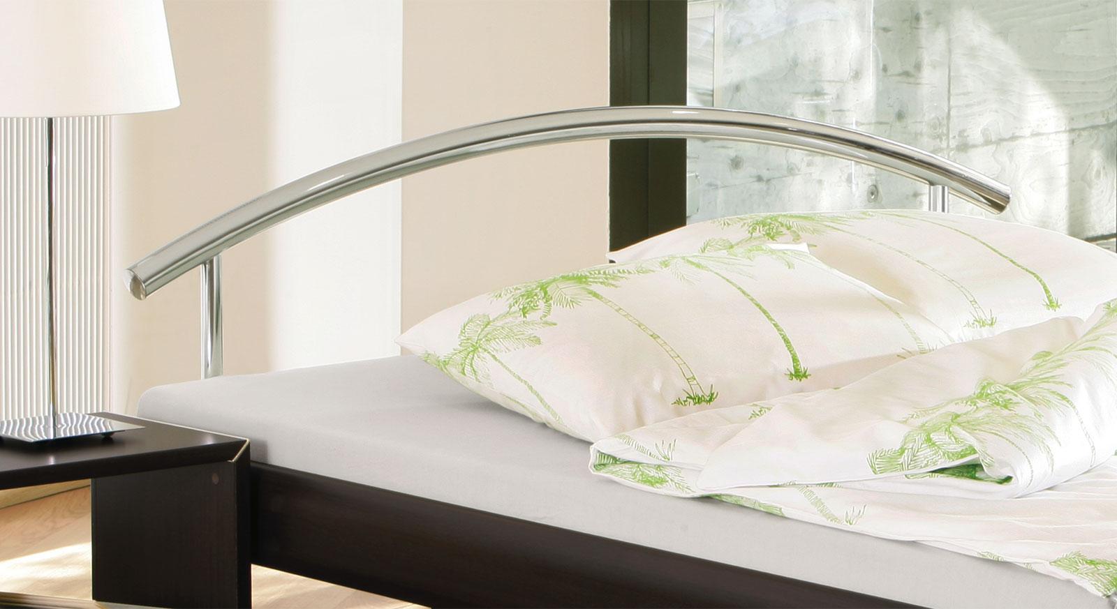 Designerbett Parla Metall Kopfteil bogenförmig tolles Design