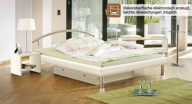 """Modernes und stilvolles Bett """"Parla"""" in Weiß"""