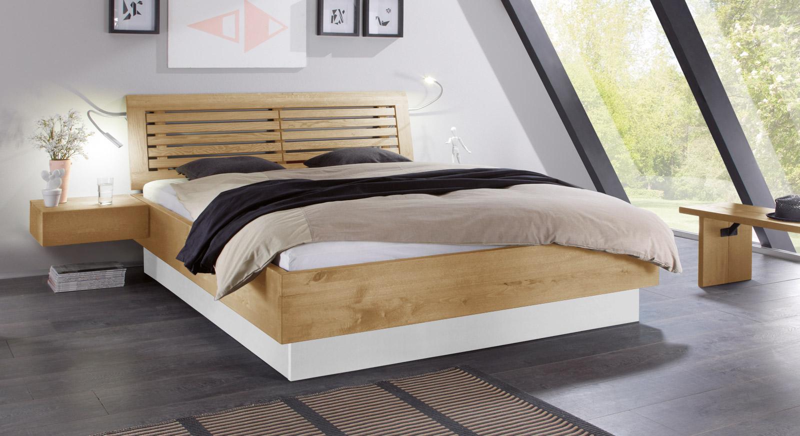 massivholzbett mit bettkasten und lattenrost patea. Black Bedroom Furniture Sets. Home Design Ideas