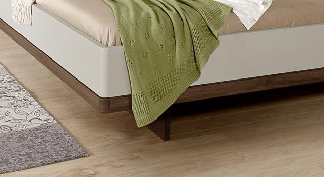Modernes Bett Patiala mit Schweberahmen