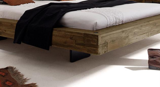 Anthrazitfarbener Fuß vom Bett Penco