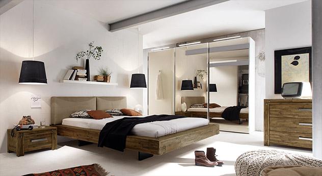 Bett Penco mit passenden Schlafzimmermöbel