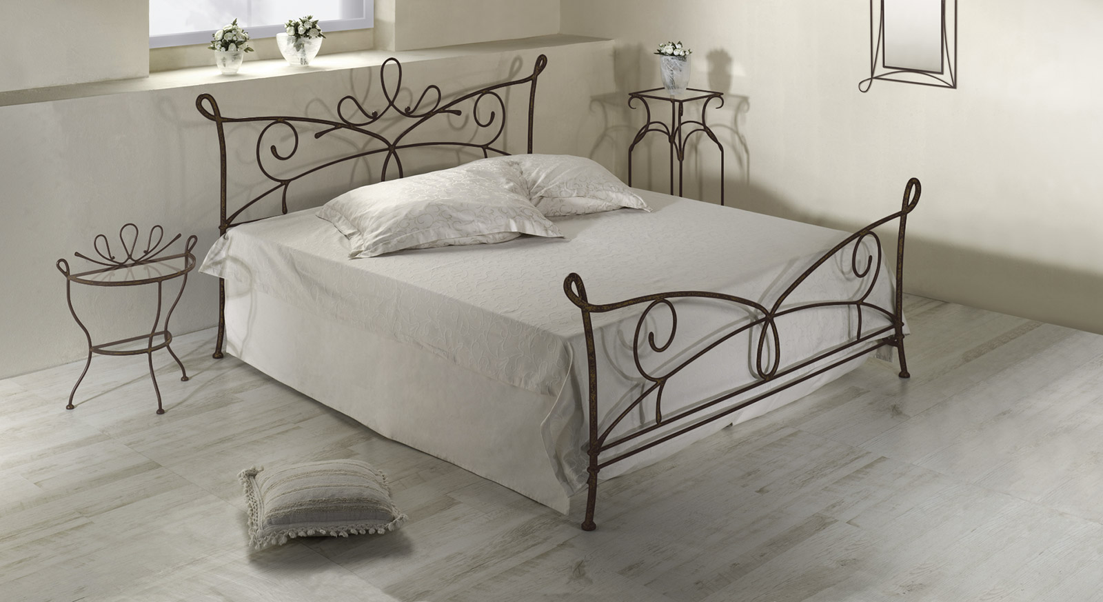 doppelbett aus metall in 140x200 cm anthrazit porco. Black Bedroom Furniture Sets. Home Design Ideas