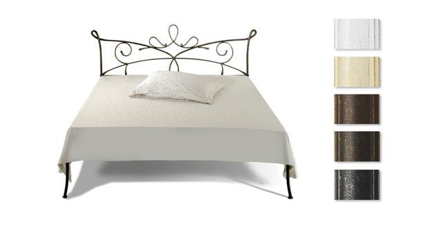 doppelbett aus metall in 140x200 cm anthrazit porco. Black Bedroom Furniture Sets. Home Design Ideas