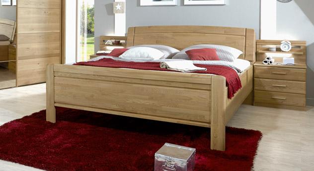 Modernes Bett Quebo mit stabilen Schraubverbindungen