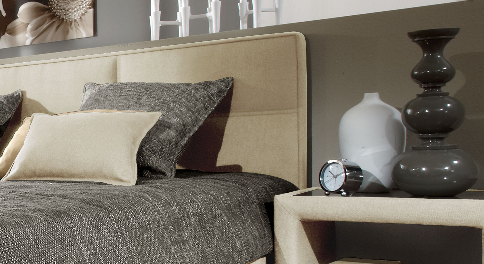 polsterbett inklusive matratze und lattenrost quintino. Black Bedroom Furniture Sets. Home Design Ideas