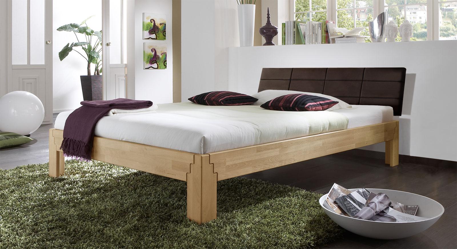 Kopfteile Bett Modell : Bettgestell aus buche z b mit kopfteil rafina