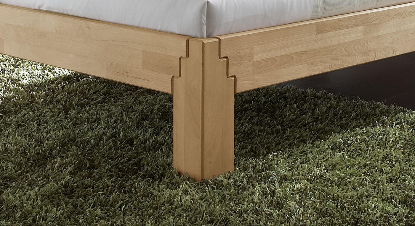 bettgestell aus buche z b 140x200 mit kopfteil rafina. Black Bedroom Furniture Sets. Home Design Ideas
