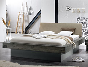 betten im loft design g nstig kaufen. Black Bedroom Furniture Sets. Home Design Ideas