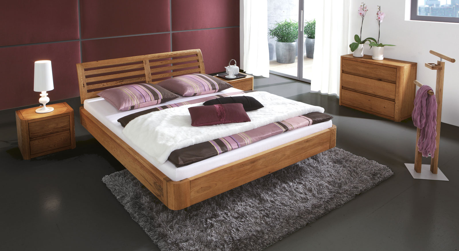 Stylisches Bett Salerno aus Eiche günstig kaufen | BETTEN.de
