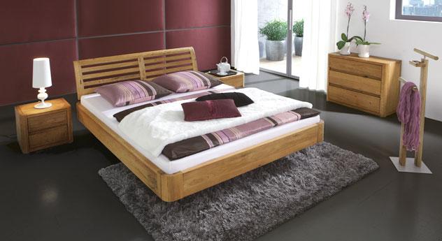 stylisches bett salerno aus eiche g nstig kaufen. Black Bedroom Furniture Sets. Home Design Ideas